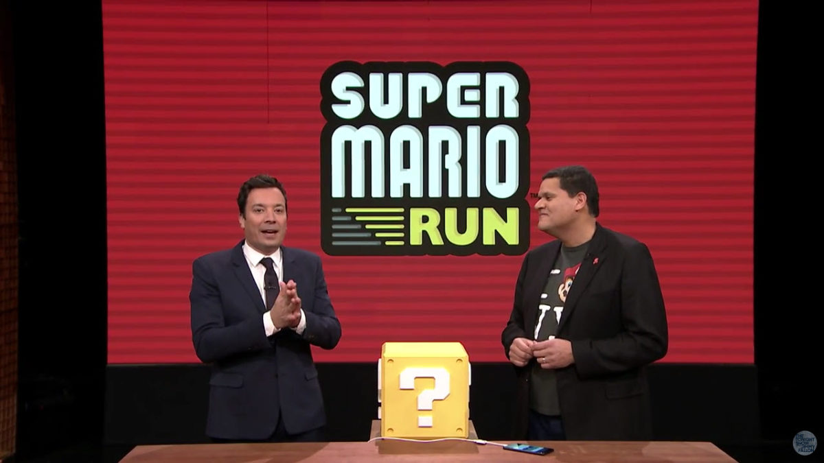 Super Mario Run i The Legend of Zelda: Breath of Wild w Tonight Show